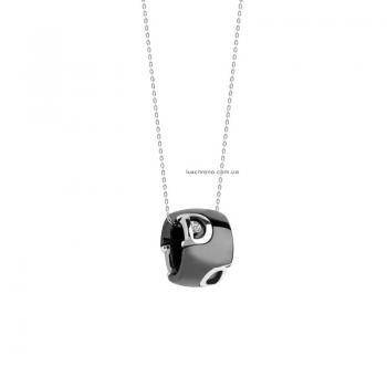 Ожерелье из черной керамики с белым золотом и бриллиантом D.icon