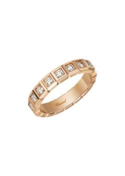 Кольцо Ice Cube, розовое золото 750пробы и бриллианты