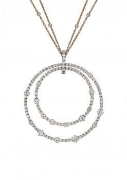 Круглый кулон L'heure Du Diamant Розовое золото и бриллианты